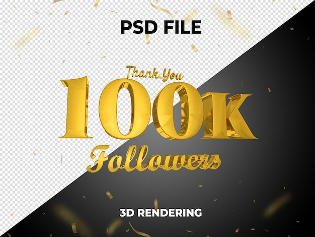 Follower gold 3d-rendering