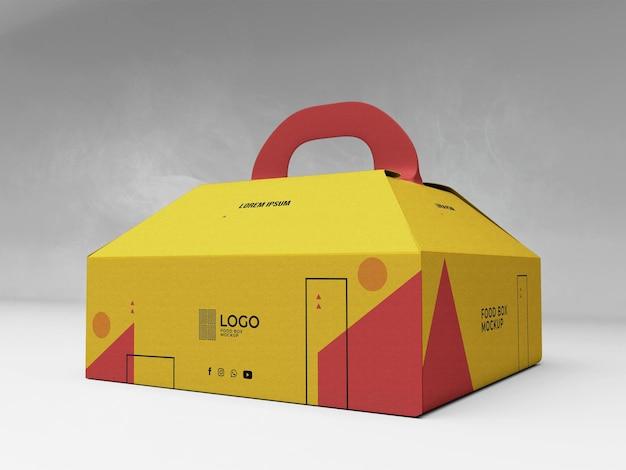 Food box mockup 3d realistisch