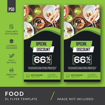 Food dl flyer vorlage