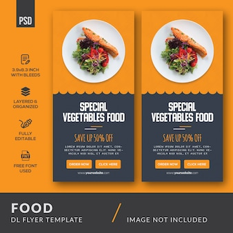 Food dl flyer vorlage