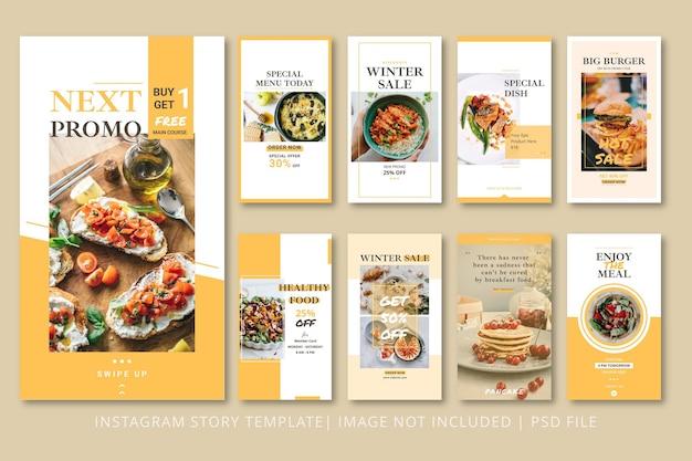 Food instagram stories grafikvorlage