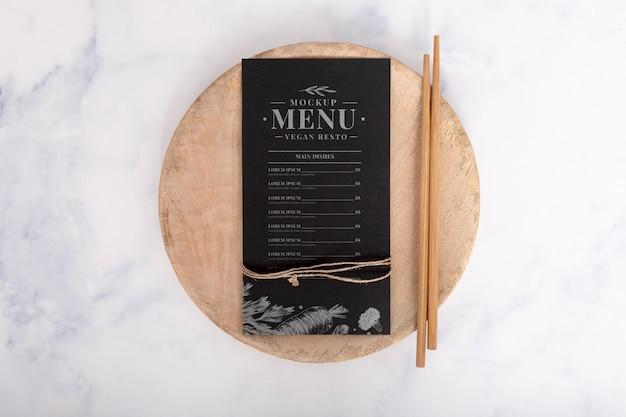 Food-menü-konzept-modell