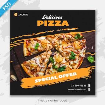 Food restaurant für social media instagram post banner vorlage premium