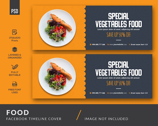 Food social media cover vorlage