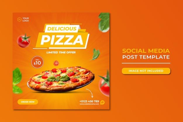 Food social media promotion und instagram banner post design vorlage