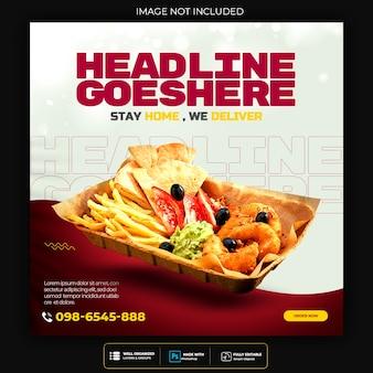 Food social media werbung und instagram banner post design vorlage