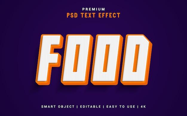 Food text effect generator