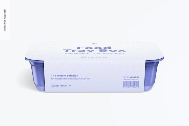 Food tray box mit etikettenmodell