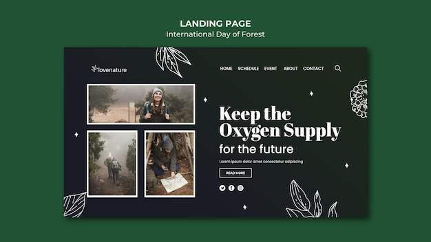 Forest day landing page vorlage