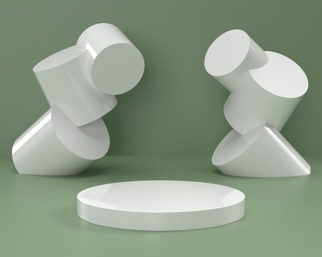 Form-podium der abstrakten 3d-szenengeometrie