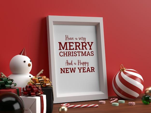 Foto weihnachten horizontale rahmen modell realistische szene