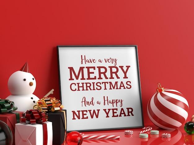 Foto weihnachtsquadratrahmen modell realistische szene