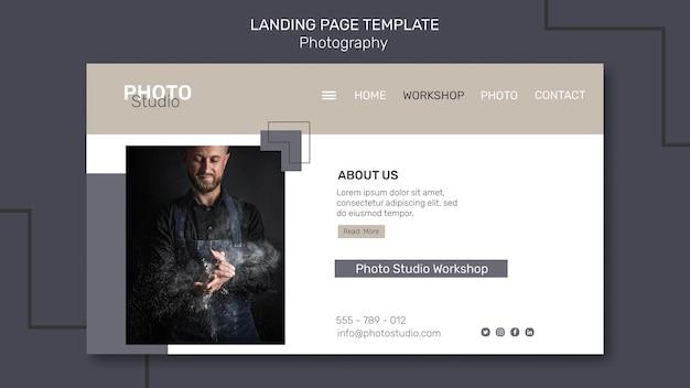 Fotografie landing page