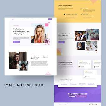 Fotografie persönliche website-vorlage