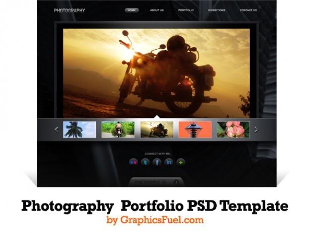 Fotografie portfolio website psd-vorlage