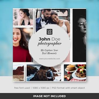 Fotografie square banner oder flyer vorlage