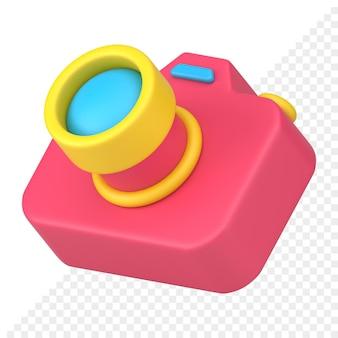 Fotokamera 3d-symbol
