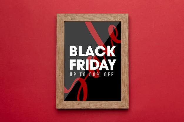 Fotorahmen mit schwarzem freitag-kampagnenmodell