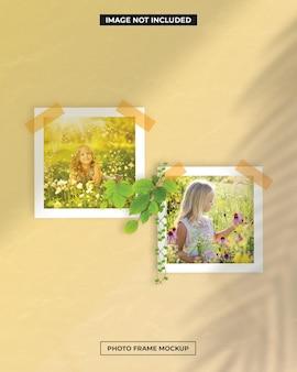 Fotorahmen polaroid mockup
