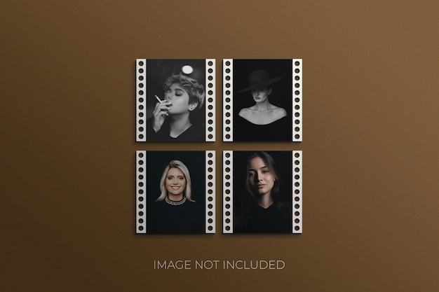 Fotorahmen-set mockup premium psd