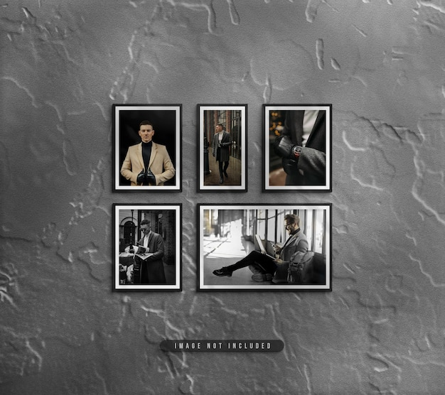 Fotorahmen-set-mockup zur wandmontage