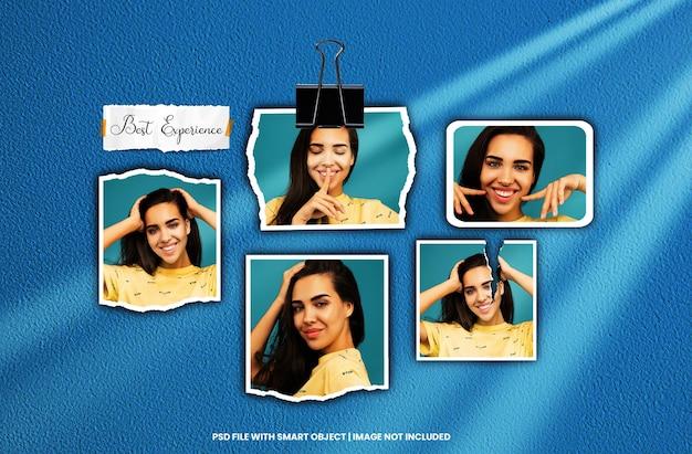 Fotorahmen-set moodboard-mockup-premium-psd