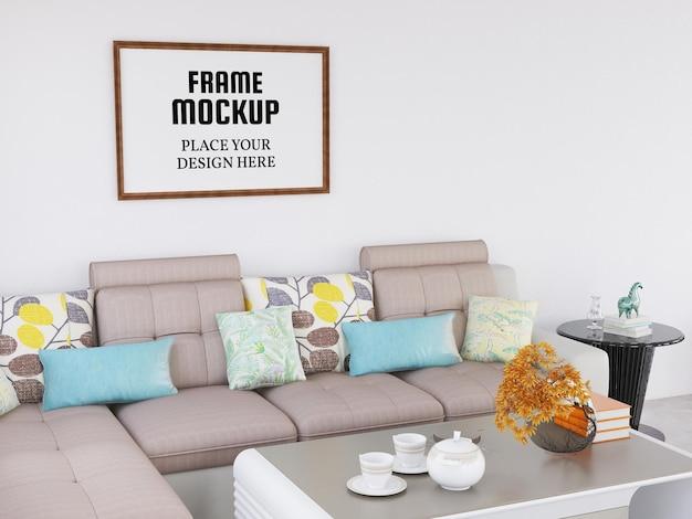 Fotorahmenmodell im wohnzimmer