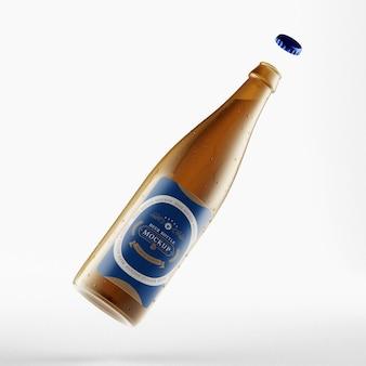 Fotorealistisches bierflaschenmodell