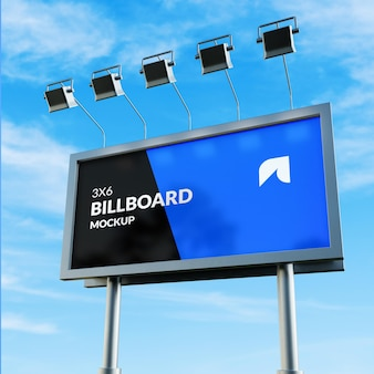 Fotorealistisches billboard mockup