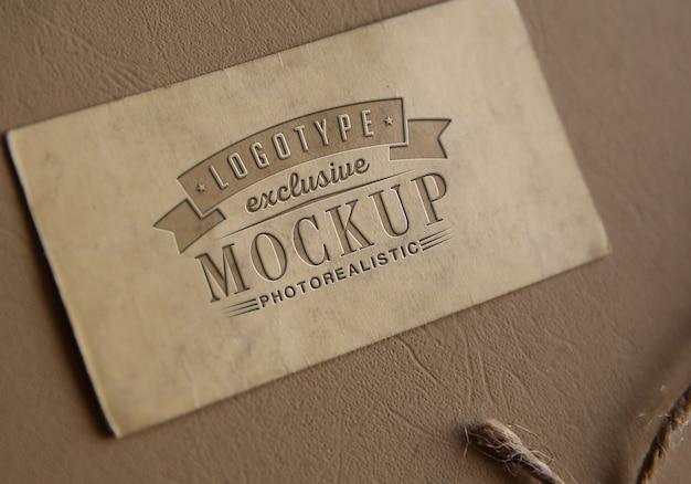 Fotorealistisches firmenzeichen-modell im vintage-stil
