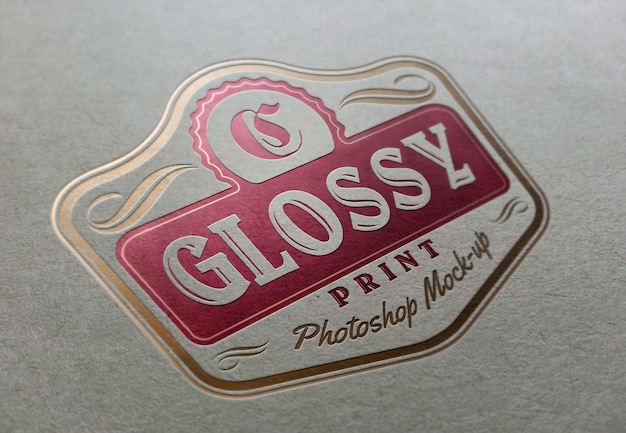 Fotorealistisches logo mockup