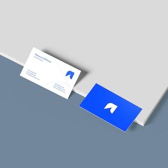 Fotorealistisches visitenkarten-mockup