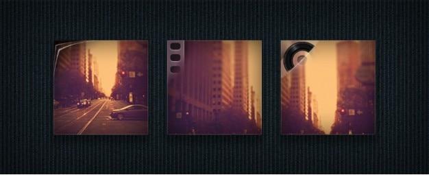 Fotos, video und audio icons