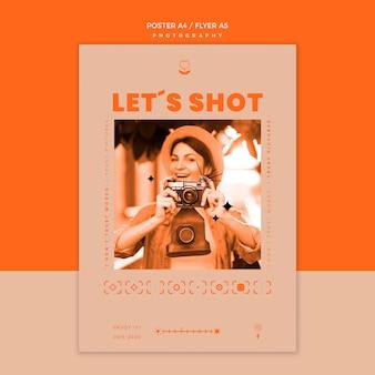 Fotoshooting flyer vorlage