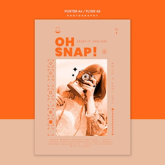 Fotoshooting poster vorlage
