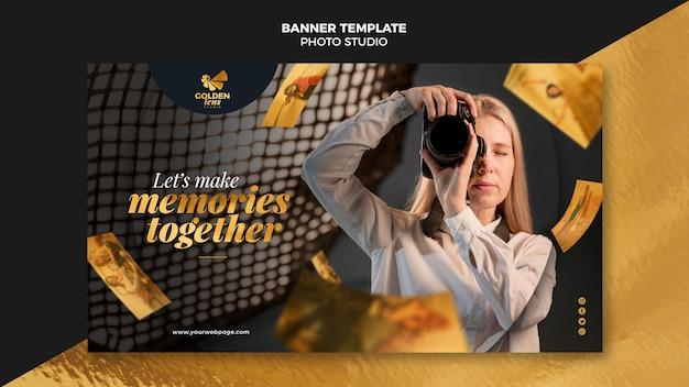 Fotostudio banner vorlage