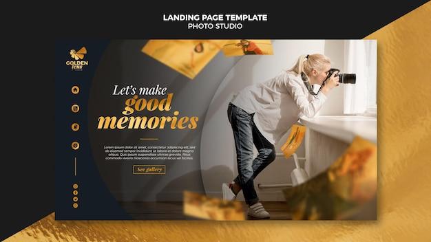 Fotostudio landingpage vorlage