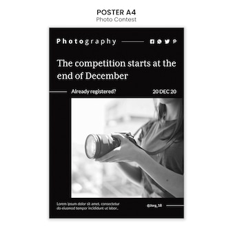 Fotowettbewerb poster vorlage stil