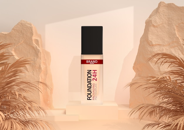 Foundation make-up in eleganter verpackung