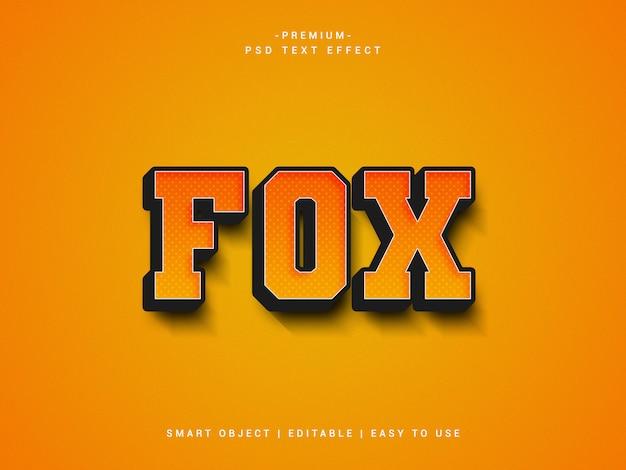 Fox-texteffekt, photoshop-ebenenstil
