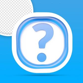 Fragezeichen-icon-rendering isoliert