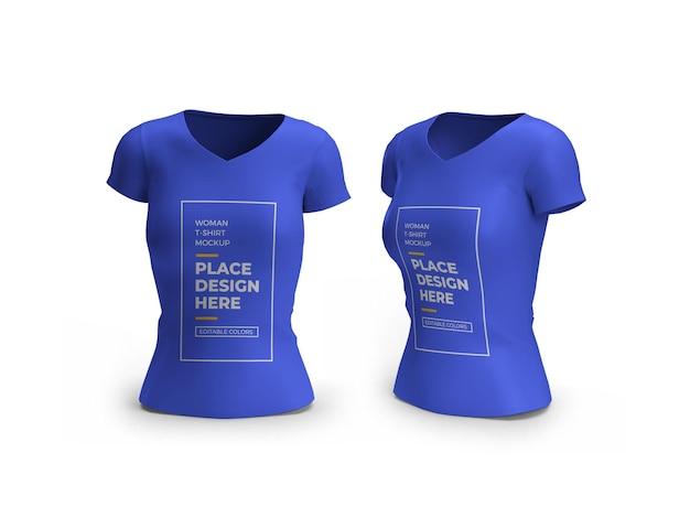 Frau t-shirt 3d-modell isoliert