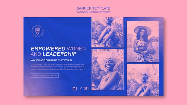 Frauen empowerment banner vorlage