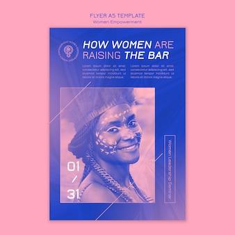 Frauen empowerment flyer vorlage
