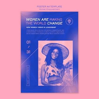 Frauen empowerment poster vorlage