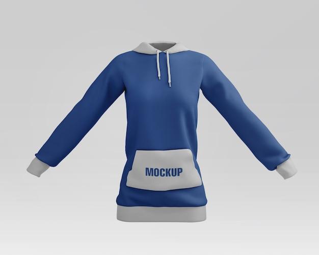 Frauen hoodie modell psd