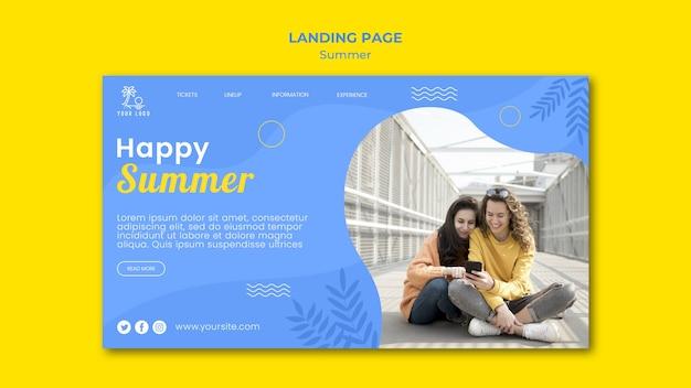 Frauen mit handy-landingpage