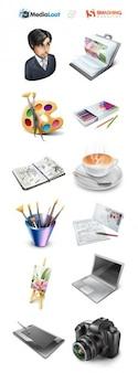 Freie designer portfolio con set