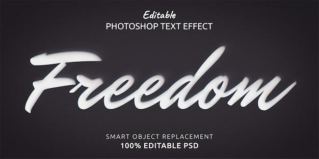 Freiheitstextstil-effekt