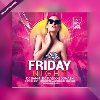 Freitag nacht party flyer